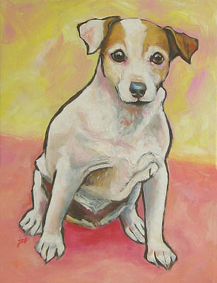 Painting - Jack Russell Terrier - Miss Maddie by Janet Burt