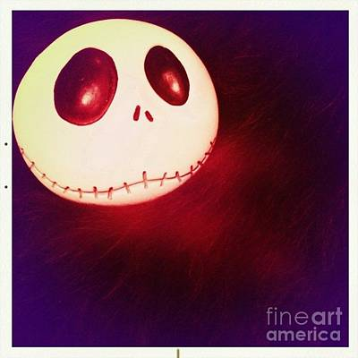 Photograph - Jack Skellington Glowing by Denise Railey