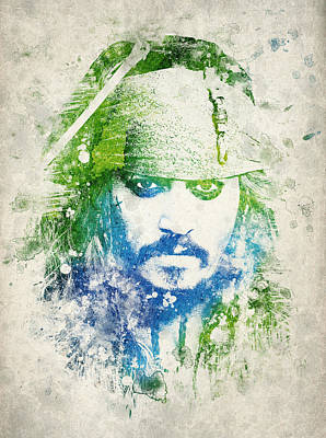 Johnny Depp Drawing - Jack Sparrow by Aged Pixel
