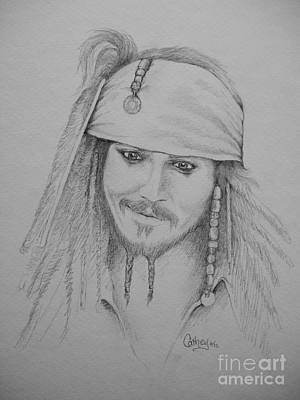 Drawing - Jack Sparrow by Catherine Howley