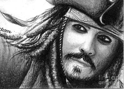 Orlando Bloom Drawing - Jack Sparrow by Crystal Rosene