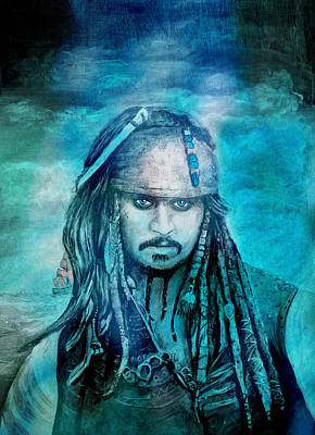 Mixed Media - Jack Sparrow by EricaMaxine  Price