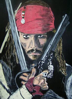Painting - Jack Sparrow Johnny Depp by Dan Twyman