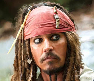 Johnny Depp Digital Art - Jack Sparrow by Paul Tagliamonte