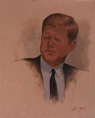 John F Kennedy Drawing - Jack by Ted Jones
