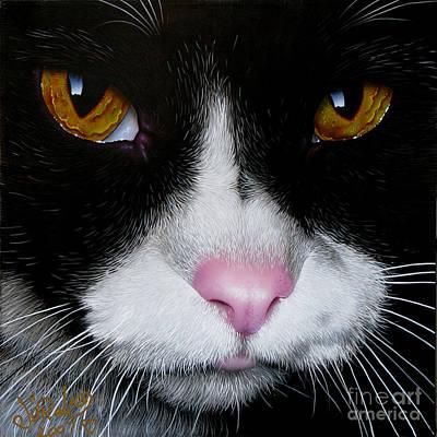 Of Pets Painting - Jack The Cat by Jurek Zamoyski