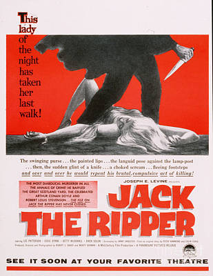 1950 Movies Drawing - Jack The Ripper 1959 1950s Usa by The Advertising Archives