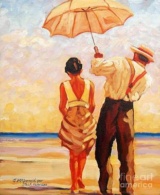Painting - Jack Vettriano Tribute by Janet McDonald