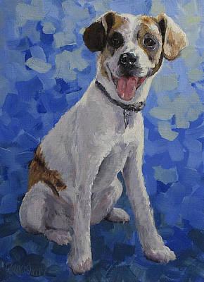 Painting - Jackaroo - A Pet Portrait by Karen Ilari
