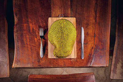 Jackfruit On Table Art Print by Ktsdesign