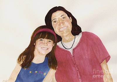 Painting - Jackie And Daughter by Michelle Welles