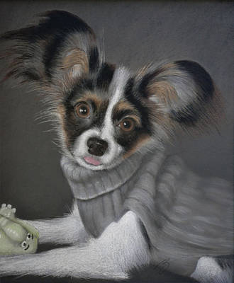 Pastel - Jackie In His Sweater - Pastel by Ben Kotyuk