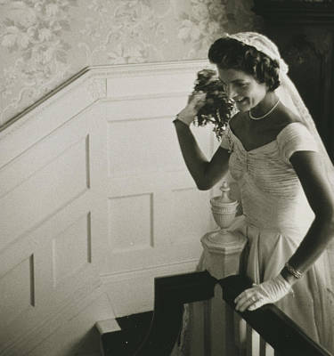 Digital Art - Jackie Kennedy Wedding by Toni Frissell
