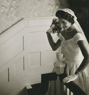 President Kennedy Digital Art - Jackie Kennedy Wedding by Toni Frissell