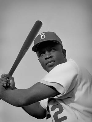 Jackie Robinson - 1954 Print by Mountain Dreams