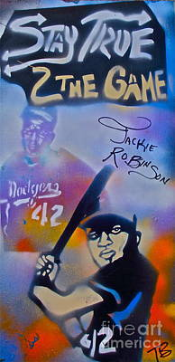 Conscious Painting - Jackie Robinson Blue by Tony B Conscious