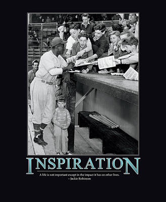 Athletes Photograph - Jackie Robinson Inspiration by Retro Images Archive