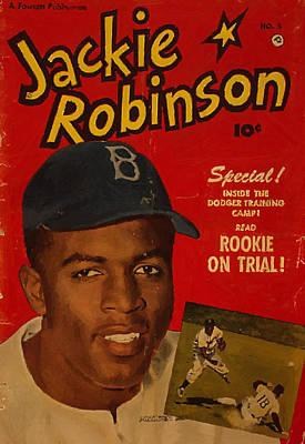 Rookie Painting - Jackie Robinson by J Morgan Massey