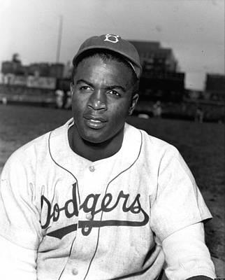 Dodgers Photograph - Jackie Robinson Portrait by Gianfranco Weiss
