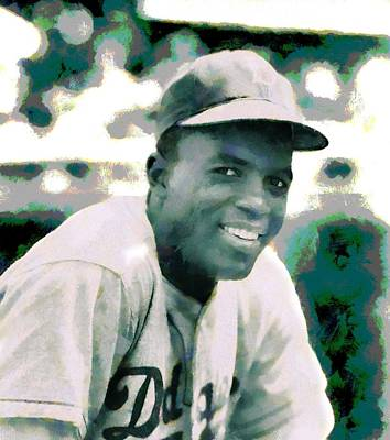 Rights Painting - Jackie Robinson Poster by Dan Sproul
