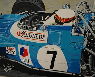 Jackie Stewart Art Print by Jose Mendez