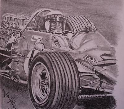 Formula One Drawing - Jackie Stewart  by Juan Mendez