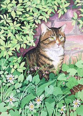 Brick Painting - Jackie's Cat by Suzanne Bailey