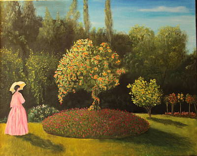 Painting - Jackie's Garden by DG Ewing