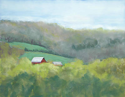 Pastel - Jackie's View - Tribute To Maggie Price by Lorraine McFarland