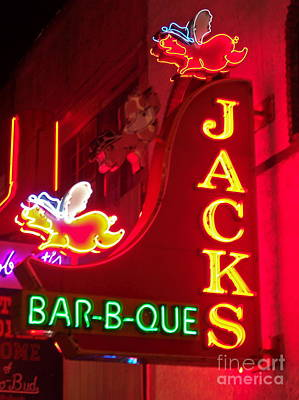 Photograph - Jacks Bar-b-que by Eve Spring
