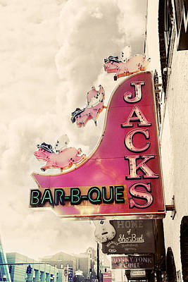Old Signs Photograph - Jacks Bbq by Amy Tyler