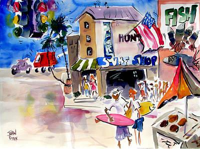 Huntington Beach Painting - Jack's Huntington Beach by John Dunn