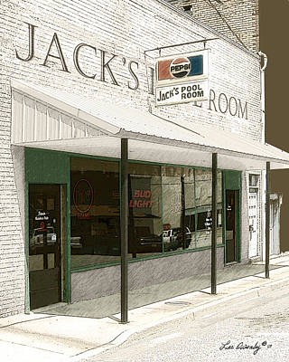 Photograph - Jack's Pool Room by Lee Owenby