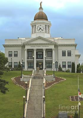 Photograph - Jackson County Courthouse by Adam Jewell