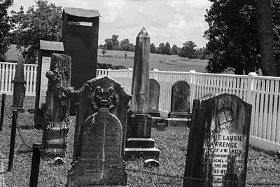 Photograph - Jackson Family Graves by Robert Hebert