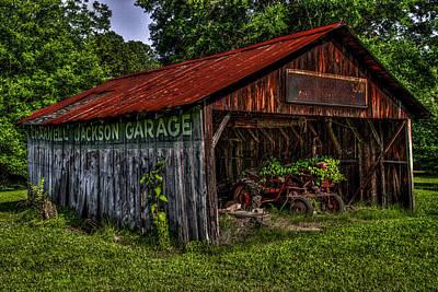 Jackson Garage Art Print by Russ Burch
