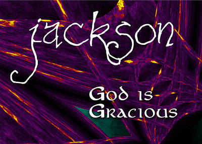 Flame Point Painting - Jackson - God Is Gracious by Christopher Gaston