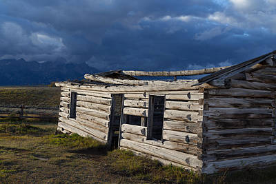 Log Cabin Art Photograph - Jackson Hole Log Cabin by Kathleen Bishop