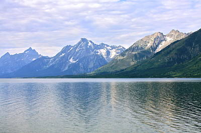 Photograph - Jackson Lake Grand Teton Mountains by Karon Melillo DeVega