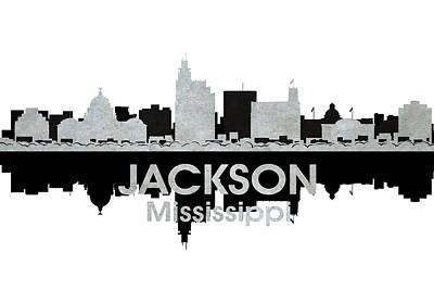 Abstract Skyline Mixed Media - Jackson MS 4 by Angelina Tamez