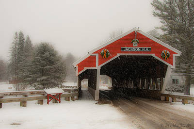 Photograph - Jackson Nh Covered Bridge by Brenda Jacobs