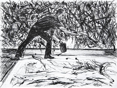 Drawing - Jackson Pollock by Michael Morgan