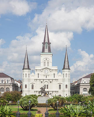 Jackson Square Cathedral Art Print by Kay Pickens