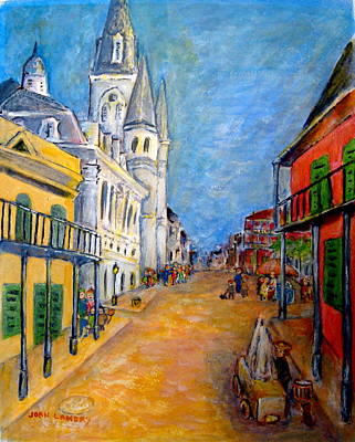 Acadian Painting - Jackson Square-early Morning by Joan Landry