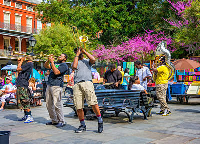 Drummer Photograph - Jackson Square Jazz by Steve Harrington