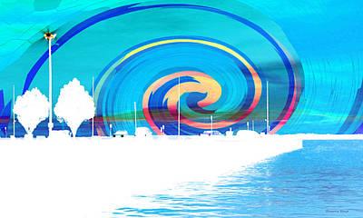 Photograph - Jackson Street Pier - Blue Swirl by Shawna Rowe