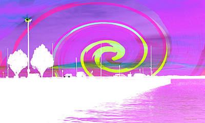 Photograph - Jackson Street Pier - Violet Swirl by Shawna Rowe