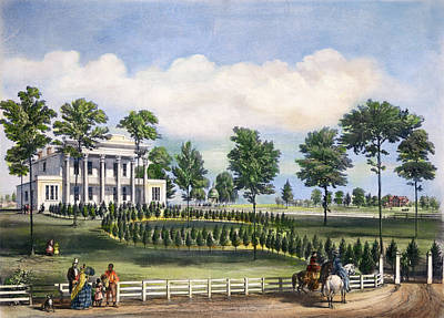 Hermitage Painting - Jackson The Hermitage, 1856 by Granger