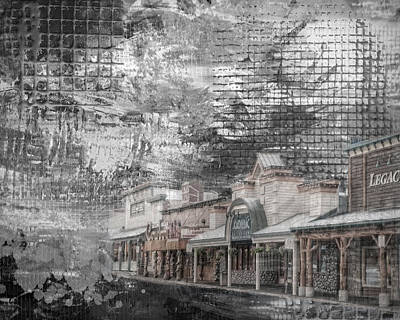 City Scape Mixed Media - Jackson Wyoming Abstract by Mary Timman