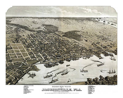 Jacksonville - Florida - 1876 Art Print